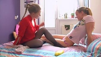 Lesbian Friends In Lingerie