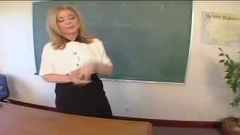 Mature Coach Nina Hartley Bends Over The Desk Staff To Produce A Fuck