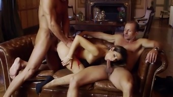 Clea Gaultier Major Sexual Intercourse With A Pair Of Elder The Males
