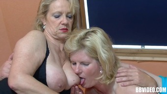 Wilderness Granny By Using A Pierced Pussy Taking Pleasure In A Hard-Core Threesome