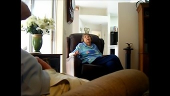 Bloke Strokes His Joystick Whereas Discussing With A Nanna