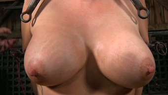 Large Boobed Encircled Nasty Person Must Suffer With Like She'S In Torment