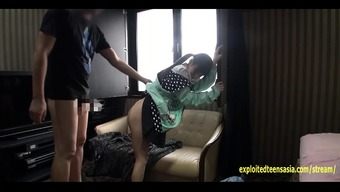 Little Jav Youngster Fucks In Her Own Hoodie Toward The Sofa Really Attractive