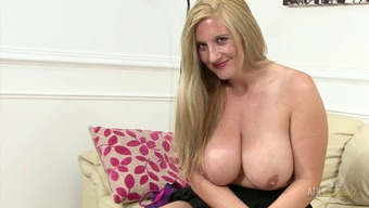 Kinky Milf Rubs Her Clit And Acts With The Colossal Boobs!