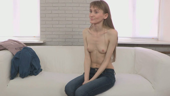Thin Girl With Prolonged Both Legs Gets Bare Located On The Throwing