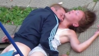 Drunk Couple Having Intercourse In Government Departments Park