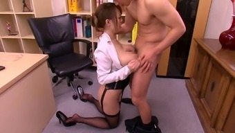 Desk Trail With The Use Of Massive Japanese Titties Gets Laid