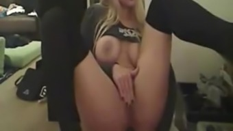 Busty Blonde Toddler With The Use Of Stockings Anal Play