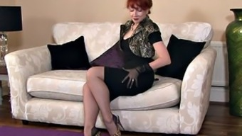 Blonde Mommy With Stockings In Alone Action