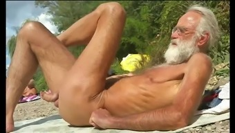 Nudist Grand Father At The Seaside - 4