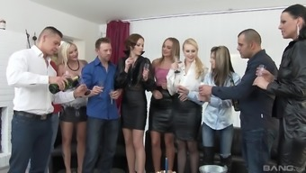 Orgy Along With Simony Ring And Other Cock-Famished Attractive Girls