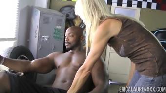 Erica Lauren Gets Naked For A Brunette Stud And Gets Hold Of His Wiener