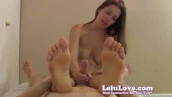 Stroking Your Desired Cock Pov With The Feet And Soles In The Handle