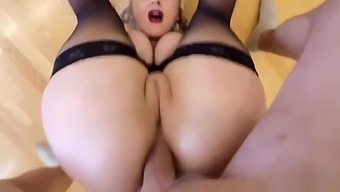 Pushing Out Banana Before Anal Sex
